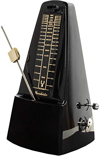 Metronom Mechanisch Musik Zubehör - Creatov Mechanical Metronome Piano Klavier Gitarren Metronom Gitarren Zubehoer E Gitarre Schlagzeug Beat Tempo & Takt Musiker Utensilien