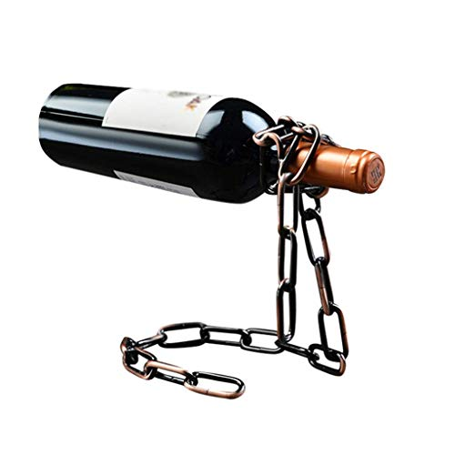 ZUQIEE Estante del Vino, Estante de la Botella de Vino en Rack Metal Creativo Estante del Vino del Hierro Retro Vino Cadena botellero Manera de la decoración del Vino
