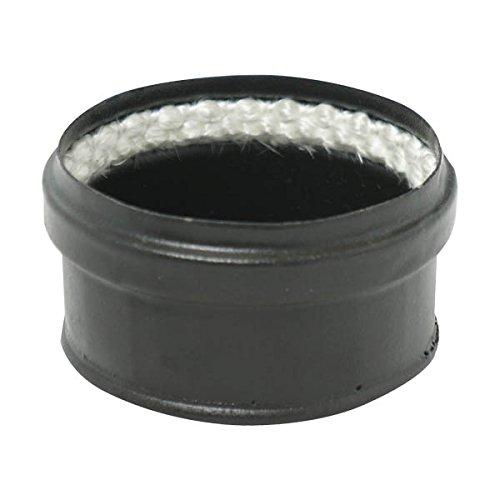 Tampon émail mat noir Diamètre 80mm pour poêles à Pellets avec Joint fibre - 340109
