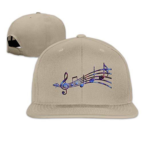 Preisvergleich Produktbild Maske Musiknoten Männer Frauen Plain Cotton Adjstable Baseball Cap Hat