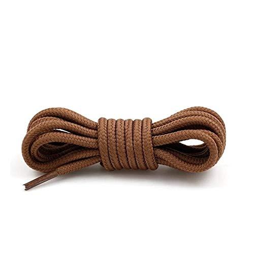 1 par de cordones redondos Zapatillas de deporte Cordones de poliéster Poliéster clásico Cordón clásico Botas deportivas ocasionales cordones de zapatos cuerdas 21 Color, marrón dorado, Estados Unidos
