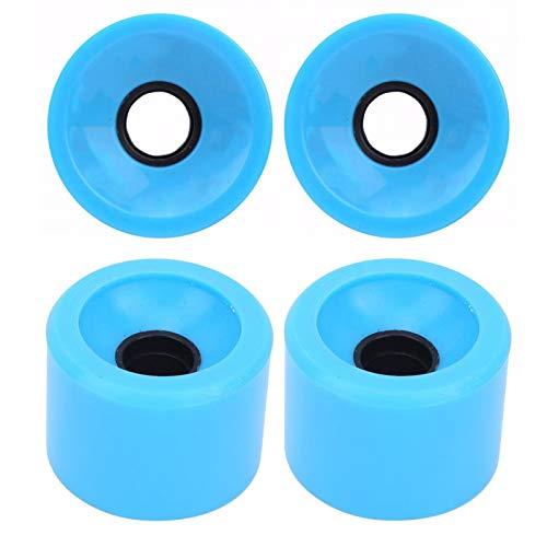 Anti-Rutsch-Flash-Rad mit Cruiser Snakeboard Roller Quad Skates mit guter Zugfestigkeit für Skateboard Pennyboard Waveboard(Blue)