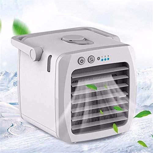 ASSDITED Mini Klimaanlage, Persönlich USB Tragbare Klimaanlage Luftkühler und Luftbefeuchter 3 in 1 Verdunstungskühler Ventilator für Büro, Zuhause, Wohnheim, Reisen