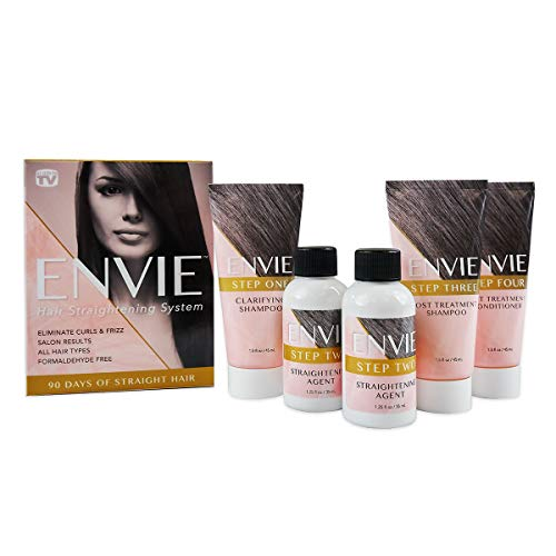 ENVIE Straightening Hair Treatment for 90 Days of Straight, Frizz-Free Hair–Keratin Complex Smoothing Treatment, 1 Count