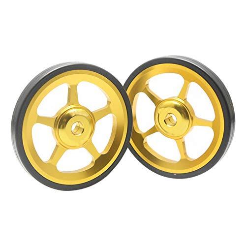KOET Ruedas fáciles para Brompton, 60 mm aleación de aluminio doble rueda...