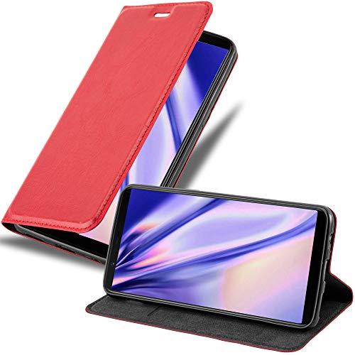 Cadorabo Funda Libro para OnePlus 5T en Rojo Manzana - Cubierta Proteccíon con Cierre Magnético, Tarjetero y Función de Suporte - Etui Case Cover Carcasa