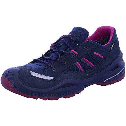 Lowa Simon II GTX Lo, Chaussures de randonnée Mixte Enfant, Noir (Navy/Bacca), 34 EU