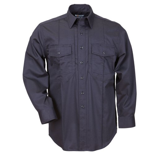 5.11 Herren Non-NFPA Station Class – B Long Sleeve Shirt, XXL, Fire Navy