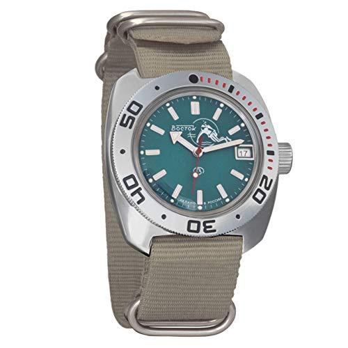 Vostok Amphibian - Reloj de hombre automático, de cuerda, de buzo militar, 710059.