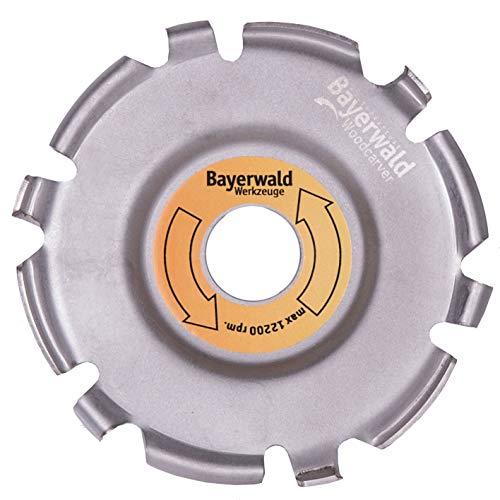 Bayerwald Woodcarver Ø 115 mm - Frässcheibe für Winkelschleifer zur Holzbearbeitung/ideales Werkzeug für Bildhauer & Schnitzer