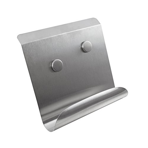 Equinox 507235 Porte Livre en Inox Magnétique + 2 Magnets Bouton en Inox