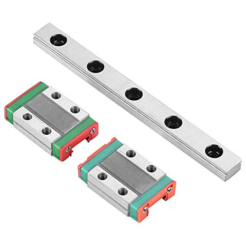 ZJN-JN Linear Rail Guide Linear Slide Rail, 100mm Professional High Accuracy 4-point Contact Technical Linear Guide Rail 9mm Width with 2pcs Rail Block Compatible with Automatic Equipment Slide Guide