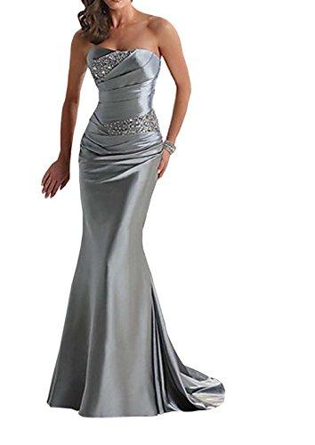 vickyben Mujer largo hombro libre perlas sirena para vestido de noche vestido de boda Ball vestido brautjungfer vestido Fiesta Vestido