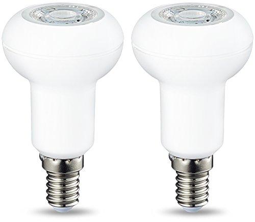 AmazonBasics E14 LED Lampe R50, Reflektor, 3.5W (ersetzt 40W), warmweiß, dimmbar - 2er-Pack