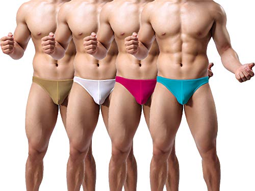 THE BLAZZE Men's Cotton Thongs (Pack of 4) (QW-100_Color May Vary_Small)