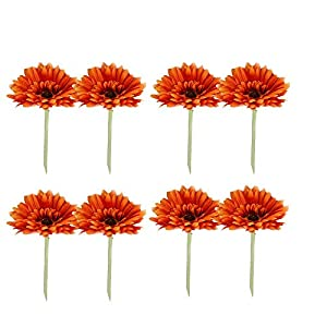 Artificial and Dried Flower 8pcs Simulation Single Gerbera Flower Gerbera Cosmos Rich Chrysanthemum Home Decoration Accessories