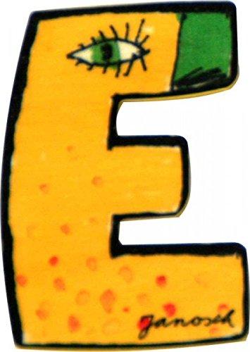 Janosch Holz Buchstaben 6cm (Buchstabe E)