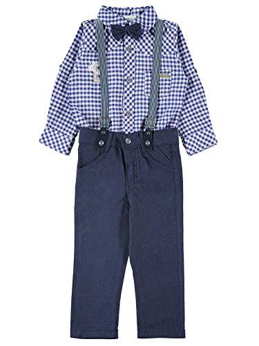 Civil Boy Kleding Set met Strik Tie Shirt en Suspender Straps Broek