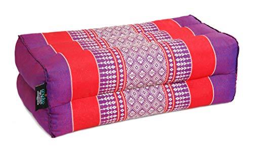 ANADEO YogaProducts Standard - Cojín de Yoga y Meditación Estándar Zafu - Kapok de Allta Densidad 100% Natural - Comodidad y Firmeza - Estabilidad del Asiento - Violeta Rojo - X1