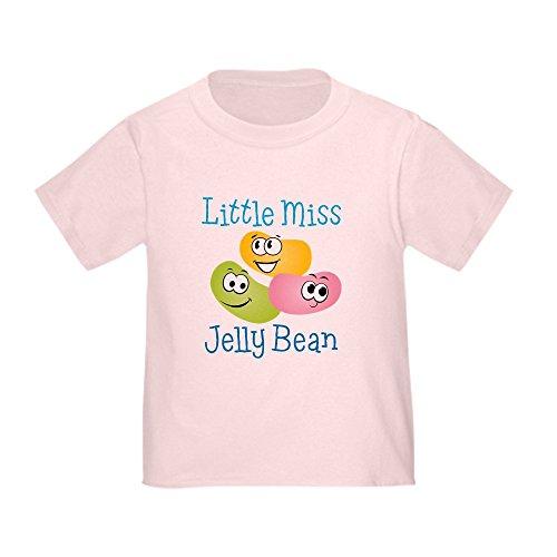 CafePress Little Miss Jelly Bean Toddler T Shirt Cute Toddler T-Shirt, 100% Cotton Pink
