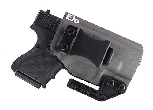 Fierce Defender IWB Kydex Holster Compatible with Glock 26 27 -Paladin Series- (Gunmetal Grey)
