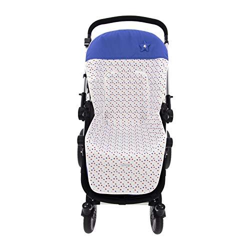 Colchoneta o funda de Paseo para silla Universal Rosy Fuentes en color azulón