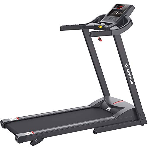 ADVENOR Treadmill Motorized Treadmills 2.5 HP Electric Running Machine Folding Exercise Incline Fitness Indoor (Black) by ADVENOR