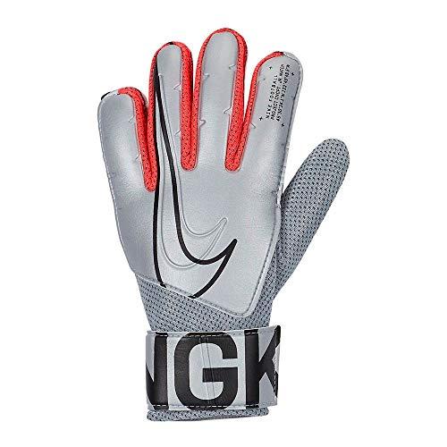NIKE Nk Gk Match Jr-Fa19 Guantes de Fútbol, Unisex Niños, Plateado (Metallic Silver/Laser Crimson/(Black), 5