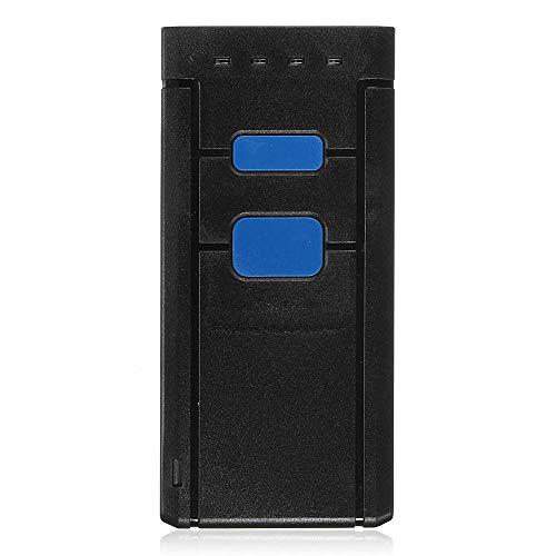 XIAOLULU Lecteur de Codes-Barres Scanner de Codes-Barres Mini Portable Barcode Scanner Bluetooth sans Fil for iOS Android UPC (Couleur : Noir, Taille : 95x45x20mm)