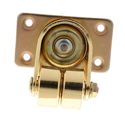 Rueda doble para piano vertical (1 pieza) de alta calidad con placa superior de 360 grados para accesorios de piezas de piano