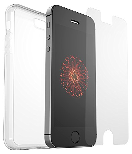 OtterBox clearly Protected Skin Bundle Extra Slim Silikon Schutzhülle + Alpha Glass Display Schutzglass, geeignet für Apple iPhone 5/5S/SE