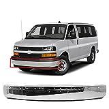MBI AUTO - Chrome, Steel Front Bumper Face Bar Shell for 2003-2020 Chevy Express & GMC Savana Van 03-20, GM1002459