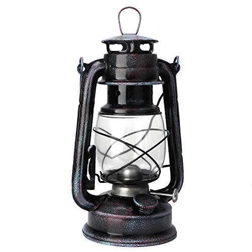 Tyenaza Lámpara de Queroseno de 24 cm Lámpara de Queroseno clásica Lámpara de Aceite de Linterna de Queroseno Vintage Luces portátiles para Acampar al Aire Libre
