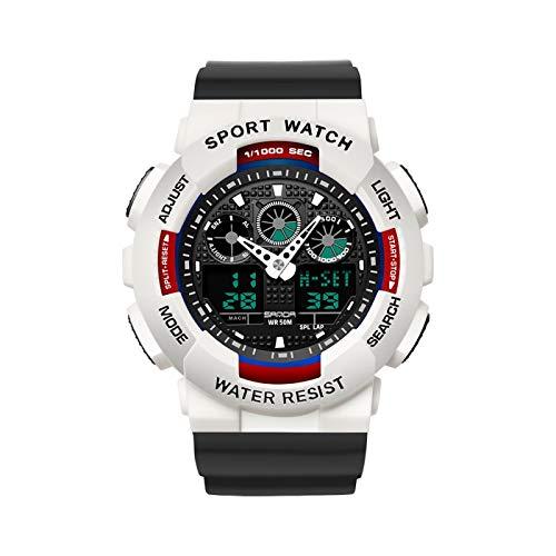 GUOJIAYI Reloj de hombre 50 m impermeable reloj led cuarzo reloj deportes al aire libre hombres reloj deportivo regalo de los hombres