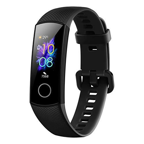 HONOR Band 5 Pulsera de Actividad Huawei Fitness Tracker Inteligente IP68 Smartwatch de Deporte con Monitor de Pulsómetro, Sueño, Podómetro Android y iOS Negro (Versión Global)