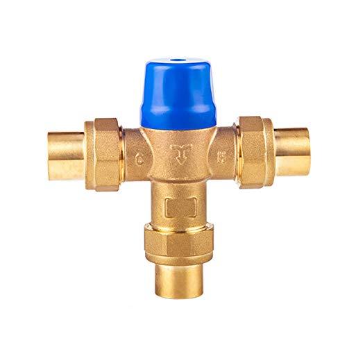 Válvula de mezcla de latón Herramienta de control del termostato del termostato de la temperatura del agua de la temperatura del agua de la temperatura del agua del latón de 26 mm Es adecuado para la