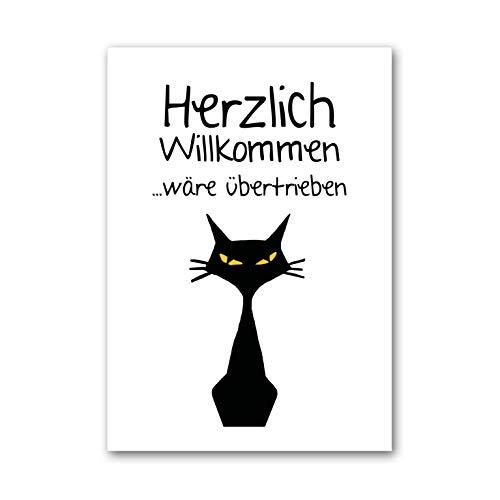 Poster, Wanddeko, Bild, Kunstdruck, Besucher, cat, Katze, visitor, Gastgeschenk, home, interior, Freundschaft