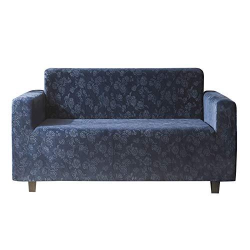 MKMKL Funda de sofá de terciopelo de cristal, multifuncional, resistente a la suciedad, cojín de sofá, color azul oscuro, XL