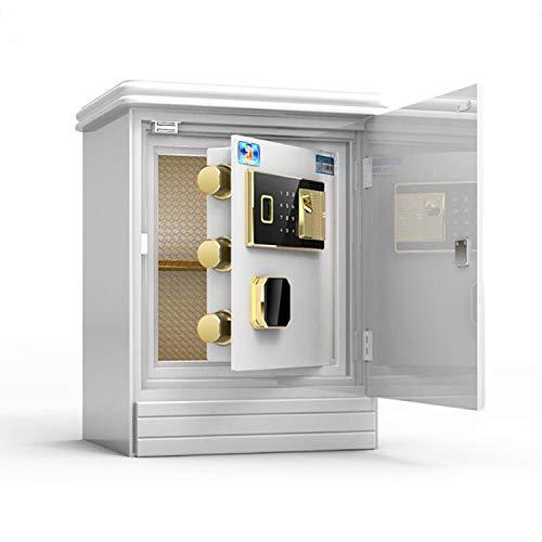 ZHIYI- Elektronischer Passwort-Safe,Multifunktion Implizite Form Schlüssel Intelligent Fingerabdruck Büro Haushalt Diebstahlsicherung Ruf Die Polizei Nachttisch Schließfächer 55cm White