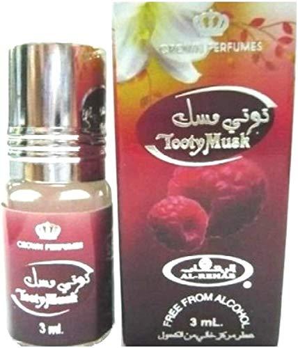 Al Rehab 3 ml Musk TOOTY MUSK 100% olie NOTEN: Zwarte bessen, roze peper, rozenbottels, frambozen, bramen, witte lelies, witte musk, vanille