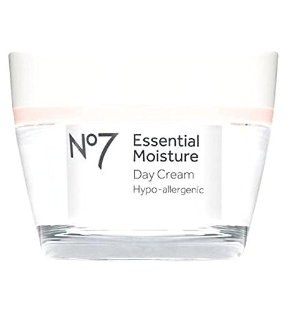 放つどう?またNo7不可欠な水分デイクリーム50ミリリットル (No7) (x2) - No7 Essential Moisture Day Cream 50ml (Pack of 2) [並行輸入品]
