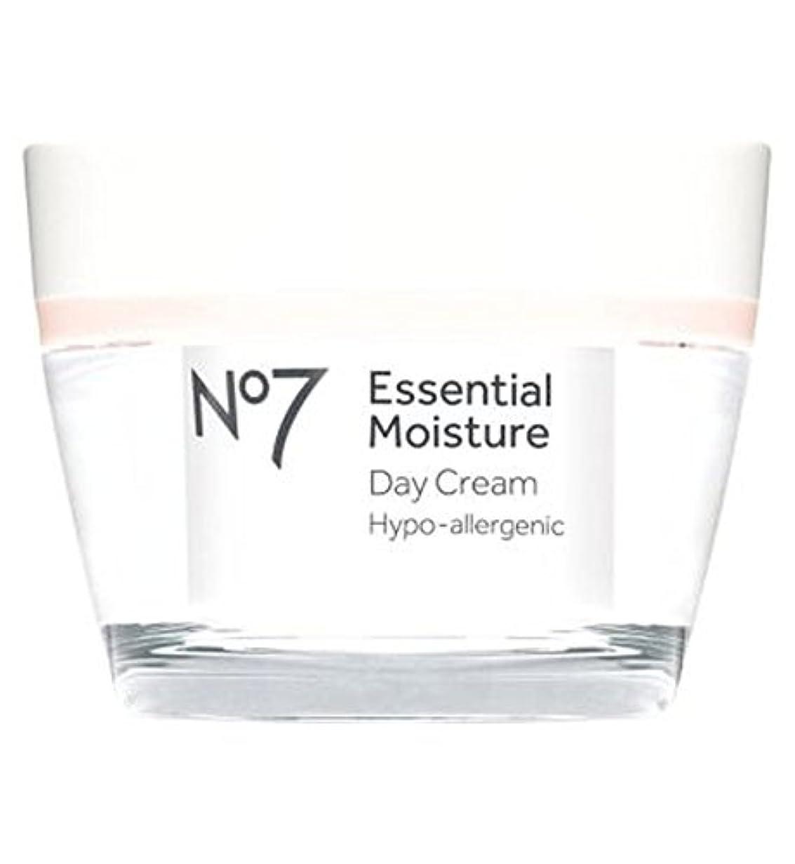 雇用者破壊的ブーストNo7不可欠な水分デイクリーム50ミリリットル (No7) (x2) - No7 Essential Moisture Day Cream 50ml (Pack of 2) [並行輸入品]