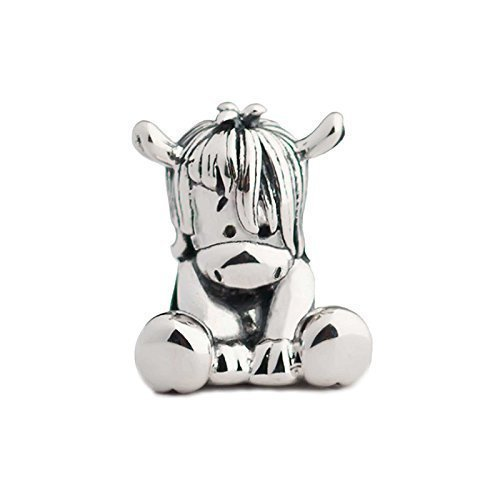 Horse Pony Donkey Sterling Silver Aurora Charm Bead S925, Cute Horse Pony Donkey Silver Charm Bead Pendant, Silver Animal Necklace Charm Jewelry, Pandora compatible