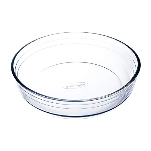 Ô cuisine 7541470 Moule à manqué en Verre Borosilicate 22 Cm, Transparent