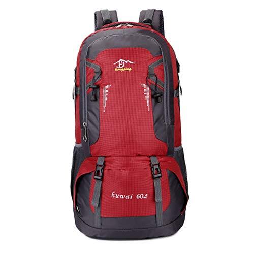 Sac à Dos pour Alpinisme en Plein air Sac à Dos en Nylon imperméable, Deux Sacs à Dos, Sac de Sport décontracté 40L60L, Rouge, 40L