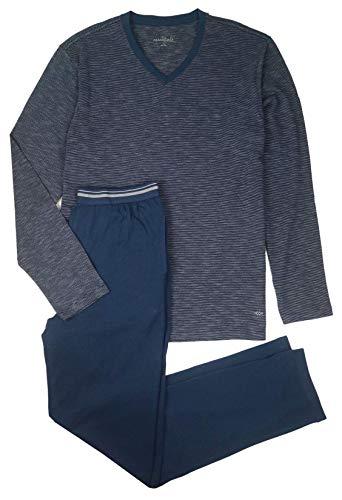 TCM Tchibo Herren Schlafanzug lang Pyjama Langarm Zweiteilig Baumwolle (L 52/54)