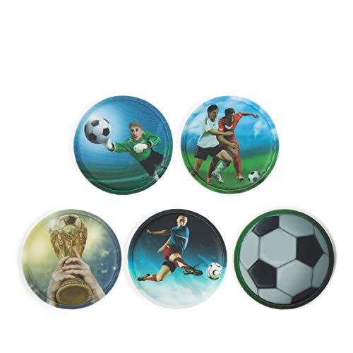 Ergobag Klettie Set Fußball, 5-teilig, passend für Pack/Cubo/Cubo Light/Ease/Mini
