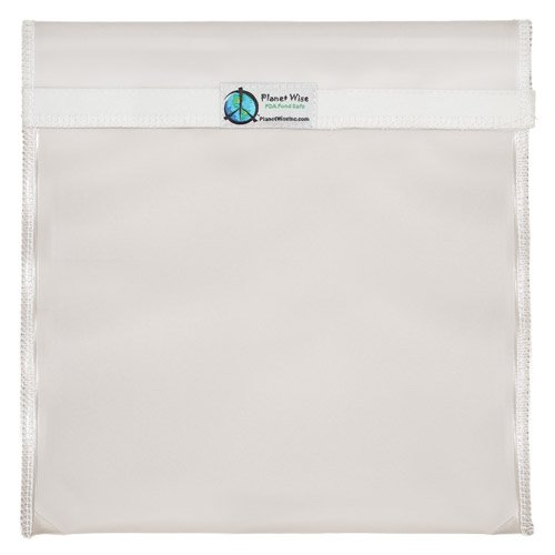 Planet Wise Reusable Clear Bag, Hook & Loop, Gallon