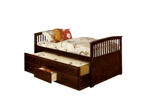 Furniture of America Giordani Mission Style Twin Platform Bed with Twin...