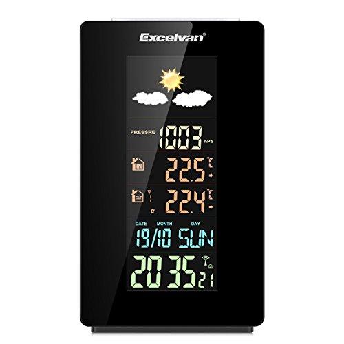 Excelvan - Estacion Meteorologica Inalambrica con Pantalla LCD Digital (USB...